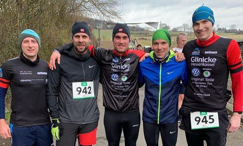Niklas, Martin, Marco, Thorsten, Gerrit und Stefan unterwegs im Sturm